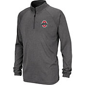 Colosseum Youth Ohio State Buckeyes Grey Quarter-Zip Pullover Shirt