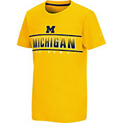 Colosseum Youth Michigan Wolverines Gold Snozzberry T-Shirt