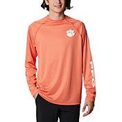 Columbia Men's Clemson Tigers Orange Terminal Tackle Long Sleeve T-Shirt