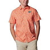Columbia Men's Florida Gators Orange Slack Tide Button-Down Shirt