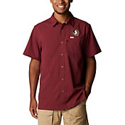 Columbia Men's Florida State Seminoles Garnet Slack Tide Button-Down Shirt