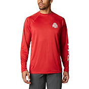 Columbia Men's Ohio State Buckeyes Scarlet Terminal Tackle Long Sleeve T-Shirt