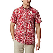 Columbia Men's Oklahoma Sooners Crimson Slack Tide Button-Down Shirt