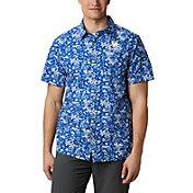 Columbia Men's Kentucky Wildcats Blue Slack Tide Button-Down Shirt