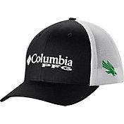 Columbia Men's North Texas Mean Green Black PFG Mesh Adjustable Hat