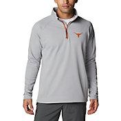 Columbia Men's Texas Longhorns Grey PFG Terminal Tackle Quarter-Zip Pullover Shirt