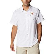 Columbia Men's Texas Longhorns White Slack Tide Button-Down Shirt