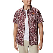 Columbia Men's Virginia Tech Hokies Maroon Slack Tide Button-Down Shirt