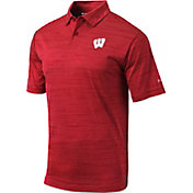 Columbia Men's Wisconsin Badgers Red Omni-Wick Set Performance Polo