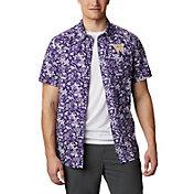 Columbia Men's Washington Huskies Purple Slack Tide Button-Down Shirt