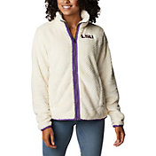 Columbia Women's Nebraska Cornhuskers White Fire Side Sherpa Full-Zip Jacket