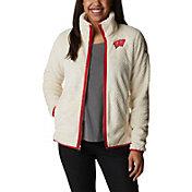 Columbia Women's Wisconsin Badgers White Fire Side Sherpa Full-Zip Jacket