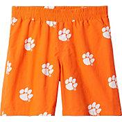 Columbia Youth Clemson Tigers Backcast Printed Performance Orange Shorts