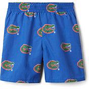 Columbia Youth Florida Gators Backcast Printed Performance Blue Shorts
