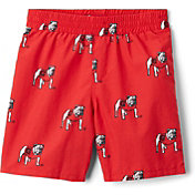 Columbia Youth Georgia Bulldogs Backcast Printed Performance Red Shorts