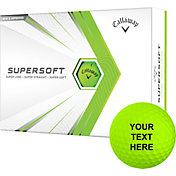 Callaway 2021 Supersoft Matte Green Personalized Golf Balls