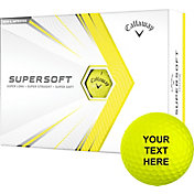 Callaway 2021 Supersoft Yellow Personalized Golf Balls