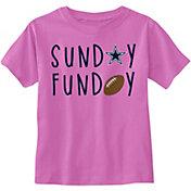 Dallas Cowboys Merchandising Toddler Sunday Funday Pink T-Shirt