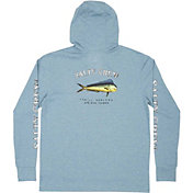 Salty Crew El Dorado Harbor Blue Tech Hooded Long Sleeve T-Shirt
