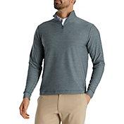 FootJoy Men's Space Dye Brushed Back Jersey ¼ Zip Golf Pullover