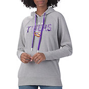 G-III For Her Women's LSU Tigers Grey Ace Pullover Hoodie