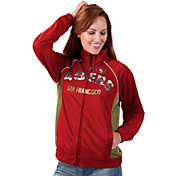 G-III for Her Women's San Francisco 49ers Sequins Red Track Jacket