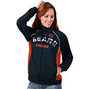 G-III for Her Women's Chicago Bears Sequins Navy Track Jacket