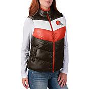 G-III for Her Women's Cleveland Browns Rebound Puff Brown Vest