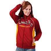G-III for Her Women's Kansas City Chiefs Sequins Red Track Jacket