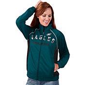 G-III for Her Women's Philadelphia Eagles Sequins Green Track Jacket