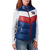 G-III for Her Women's New York Giants Rebound Puff Royal Vest