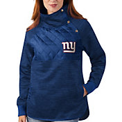 G-III for Her New York Giants Asymmetrical Royal Pullover Jacket