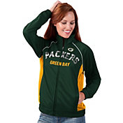G-III for Her Women's Green Bay Packers Sequins Green Track Jacket