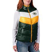 G-III for Her Women's Green Bay Packers Rebound Puff Green Vest