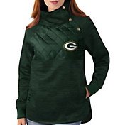 G-III for Her Green Bay Packers Asymmetrical Green Pullover Jacket
