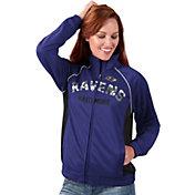 G-III for Her Women's Baltimore Ravens Sequins Purple Track Jacket