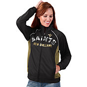 G-III for Her Women's New Orleans Saints Sequins Black Track Jacket