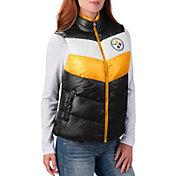 G-III for Her Women's Pittsburgh Steelers Rebound Puff Black Vest