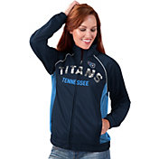 G-III for Her Women's Tennessee Titans Sequins Navy Track Jacket