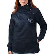G-III for Her Tennessee Titans Asymmetrical Navy Pullover Jacket
