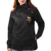 G-III for Her Minnesota Vikings Asymmetrical Black Pullover Jacket