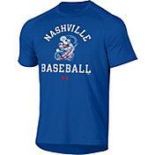 Under Armor Nashville Sounds Blue Baseball Tech T-Shirt