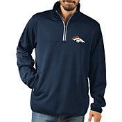 G-III Men's Denver Broncos 1st Down Quarter-Zip Navy Pullover Shirt