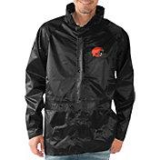 G-III Men's Cleveland Browns Full-Zip Hard Rain Black Jacket
