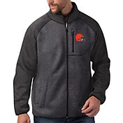 G-III Men's Cleveland Browns Switchback Full-Zip Charcoal Jacket