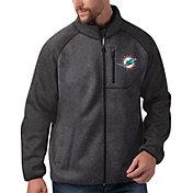 G-III Men's Miami Dolphins Switchback Full-Zip Charcoal Jacket