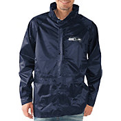G-III Men's Seattle Seahawks Full-Zip Hard Rain Navy Jacket