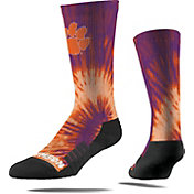 Strideline Clemson Tigers Tie Dye Crew Socks