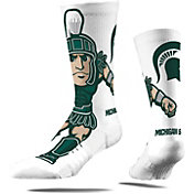 Strideline Michigan State Spartans Mascot Crew Socks
