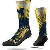 Strideline Michigan Wolverines Tie Dye Crew Socks